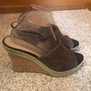 Marc Fisher wedge heels.  Size 10